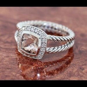 DAVID YURMAN Morganite* Petite Albion Ring- Size 7